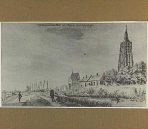 De Heukelomsche Poort in Asperen, met links op de achtergrond Leerdam