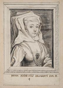 Portret van St. Begga van Brabant  (ca. 620-693)