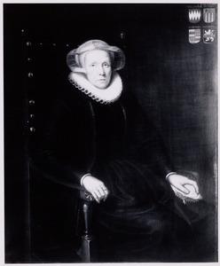 Portret van een vrouw uit de familie Van der Woert