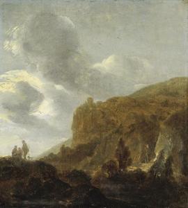 Berglandschap met wandelaars