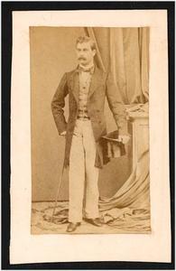 Portret van een man, mogelijk Jean Frederic Alewijn (1883-1900)