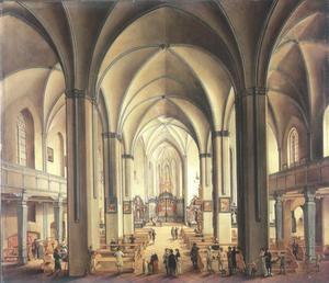 Interieur van de dom van Frankfurt bij daglicht