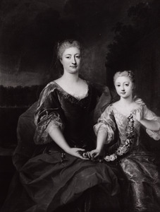 Dubbelportret van een moeder en dochter