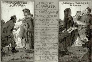 Affiche voor Concert de Charité in Scheveningen