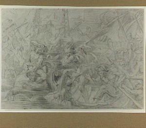Ajax en Teucer verdedigen de schepen tegen de Trojanen
