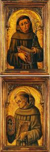 De heilige Antonius van Padua; de heilige Bernardinus van Siena