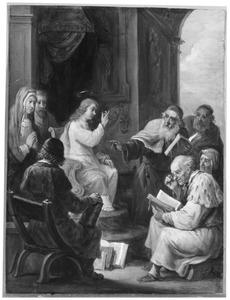 De vijftien mysteriën van de rozenkrans: De twaalfjarige Christus met de schriftgeleerden