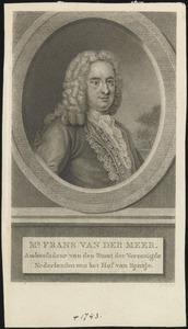 Portret van Frans van der Neer (....-1743)