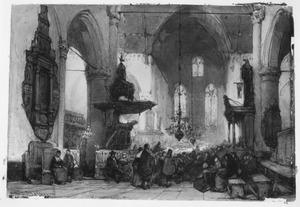 Interieur van de Grote Kerk te Maassluis