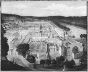 Gezicht op het klooster Port-Royal-des-Champs
