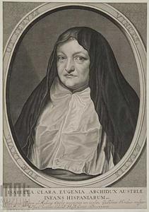 Portret van de Spaanse landvoogdes van de Nederlanden Isabella Clara Eugenia, in Nederland ook bekend als Isabella van Spanje (1566-1633), als weduwe in het habijt van de Ongeschoeide Clarissen