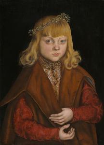 Portret van een prins van Saksen