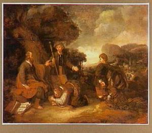 De  Sunamitische vrouw werpt zich aan de voeten van Elisa (2 Koningen 4::37)