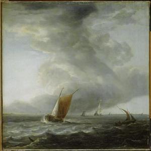 Schepen op een Hollandse binnenzee