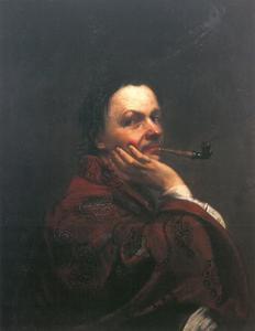 Zelfportret van Kupetzky met pijp