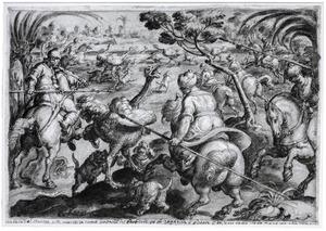 Struisvogeljacht in Barbarije