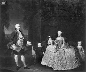 Portret van de familie Cornelis Caspar de Wijkerslooth (1713-1761)