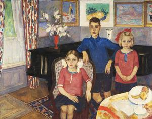 Portret van de kinderen Van Blaaderen-Hoogendijk