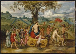 Allegorie van de maand september: de triomf van Bacchus