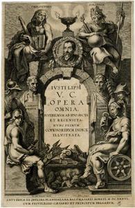 Titelpagina voor J. Lipsius, Opera Omnia, I, Antwerpen 1637