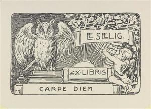 Ex libris for E.E. Seelig: carpe diem