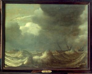 Schepen op woeste zee