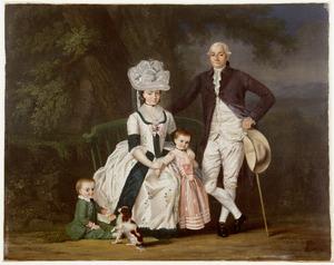 Portret van de familie van Guillaume François Imbert de Martines (1750-1784)