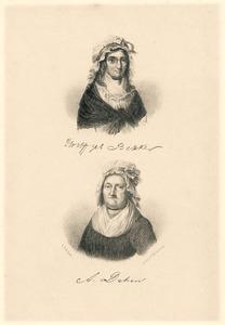 Portretten van Elisabeth Bekker (1738-1804) en Agatha Deken (1741-1804)