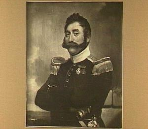 Portret van A. J. M. van der Mey in uniform als kapitein bij de 8e afdeling der infanterie