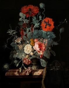 Bloemstilleven met een passie bloem
