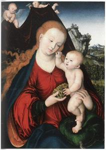 Maria en Kind met een tros druiven