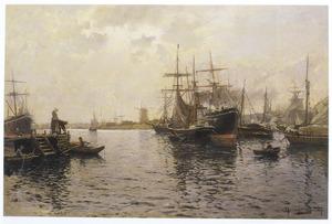 Havengezicht bij Dordrecht