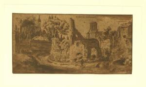 Orti Farnesiani, resten van het Domus Flaviorum, de Torre delle Milizie, Rome