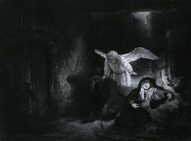 Rembrandt en atelier van Rembrandt