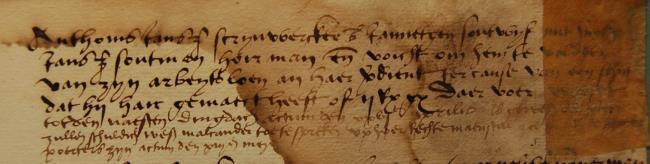 Leiden, 1529-04-19, Schepenbank (Oud Rechterlijk Archief), nummer toegang 0508, inv. no. 42+5 (Wedboek 1528-1530)
