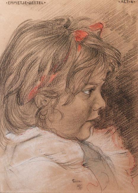 Portret van Emmetje Gestel