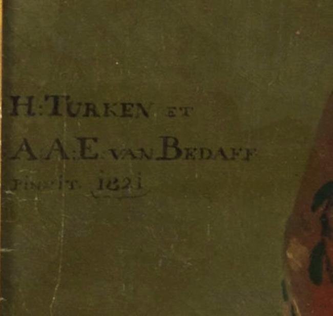 "<a class=""recordlink artists"" href=""/explore/artists/79154"" title=""Antoine Aloys Emmanuël van Bedaff""><span class=""text"">Antoine Aloys Emmanuël van Bedaff</span></a> en <a class=""recordlink artists"" href=""/explore/artists/78482"" title=""Henricus Turken""><span class=""text"">Henricus Turken</span></a>"