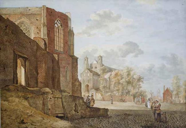 """<a class=""""recordlink artists"""" href=""""/explore/artists/419205"""" title=""""Hubert Pieter Schouten (1714-1755)""""><span class=""""text"""">Hubert Pieter Schouten (1714-1755)</span></a> naar <a class=""""recordlink artists"""" href=""""/explore/artists/38227"""" title=""""Jan van der Heyden""""><span class=""""text"""">Jan van der Heyden</span></a>"""