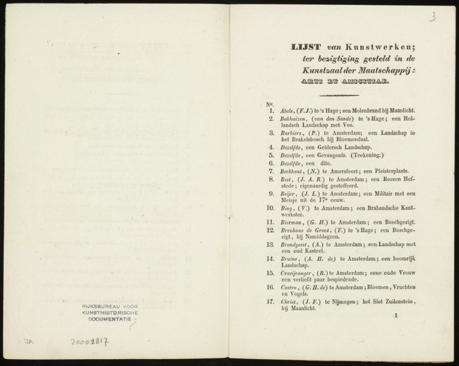 Berkhout, Nicolaus, catalogusnummer 7, 1841-11-01, een Pleisterplaats