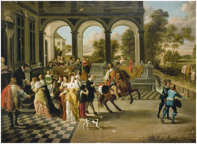 """attributed to <a class=""""recordlink artists"""" href=""""/explore/artists/41933"""" title=""""Hieronymus Janssens""""><span class=""""text"""">Hieronymus Janssens</span></a>"""