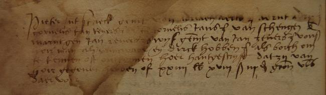 Leiden, 1528-12-18, Schepenbank (Oud Rechterlijk Archief), nummer toegang 0508, inv. no. 42+5 (Wedboek 1528-1530)