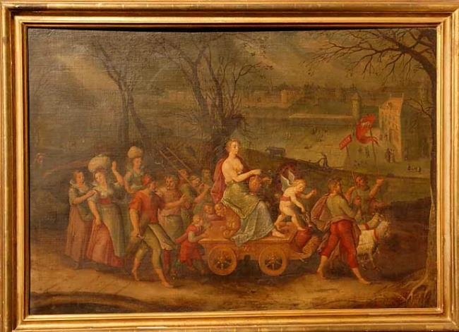 Allegory on the month of March: the triumph of Juno
