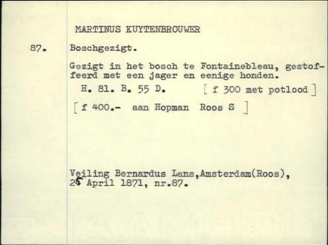 Kuytenbrouwer, Martinus, baknummer 329