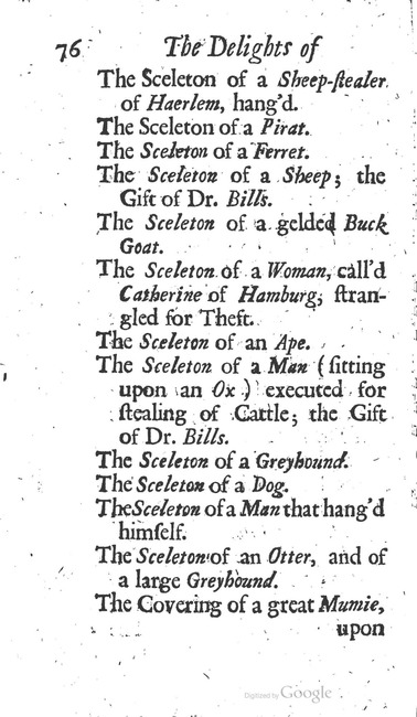 paginanummer 76, Leiden, 1695-08, The Delights of Holland, or: A Three Months Travel about that and the other Provinces. With Observations and Reflections on their Trade, Wealth, Strength, Beauty, Policy, &c. Together with A Catalogue of the Rarities in the Anatomical School at Leyden