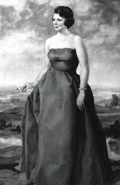 Portret van koningin Beatrix (1938-) als kroonprinses
