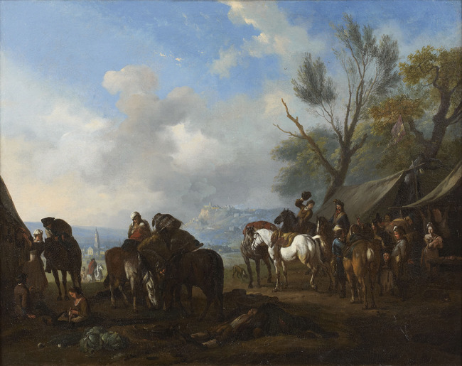 "(naar?) <a class=""recordlink artists"" href=""/explore/artists/40278"" title=""Jan van Huchtenburg""><span class=""text"">Jan van Huchtenburg</span></a>"