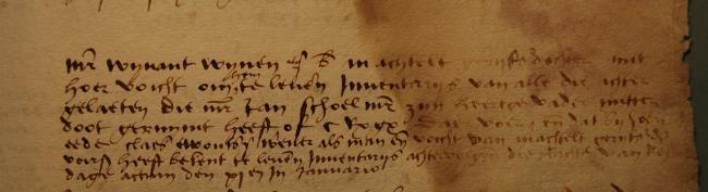 Leiden, 1529-01-11, Schepenbank (Oud Rechterlijk Archief), nummer toegang 0508, inv no 42+5 (Wedboek 1528-1529)
