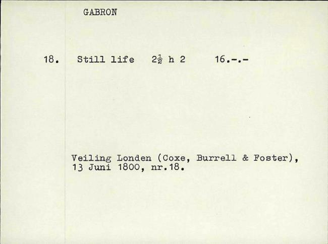 Gabriël, Paul Joseph Constantin, fichenummer 1166708