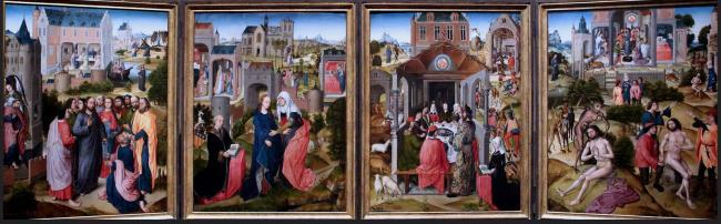 """<a class=""""recordlink artists"""" href=""""/explore/artists/53620"""" title=""""Master of the Legend of Saint Barbara""""><span class=""""text"""">Master of the Legend of Saint Barbara</span></a> of <a class=""""recordlink artists"""" href=""""/explore/artists/53622"""" title=""""Meester van de Legende van de Heilige Catharina""""><span class=""""text"""">Meester van de Legende van de Heilige Catharina</span></a>"""