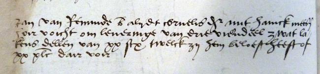 Meesz, Havick, Leiden, 1528-04-24, Schepenbank (Oud Rechterlijk Archief), nummer toegang 0508, inv. no. 42+5 (Wedboek 1528-30)